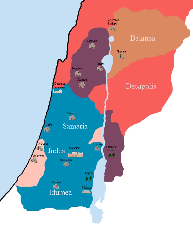 First century bible map