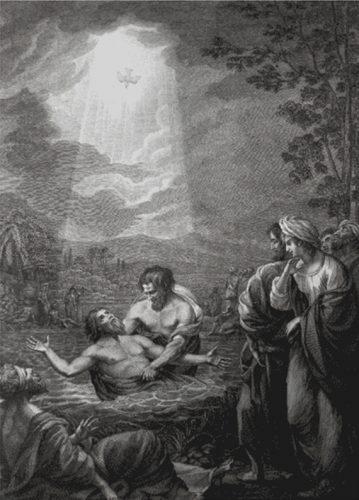 John the baptist baptizing jesus