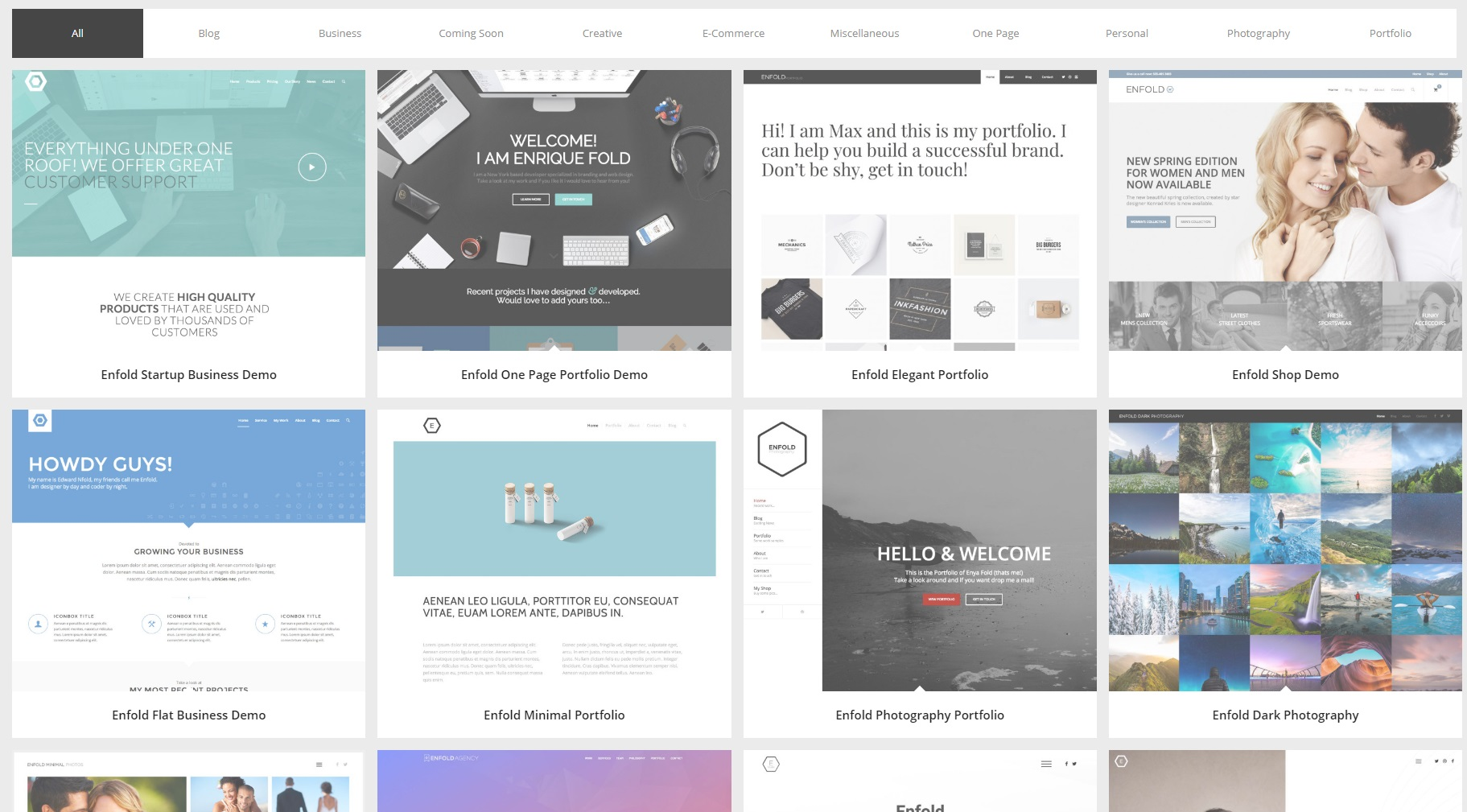 wordpress theme enfold