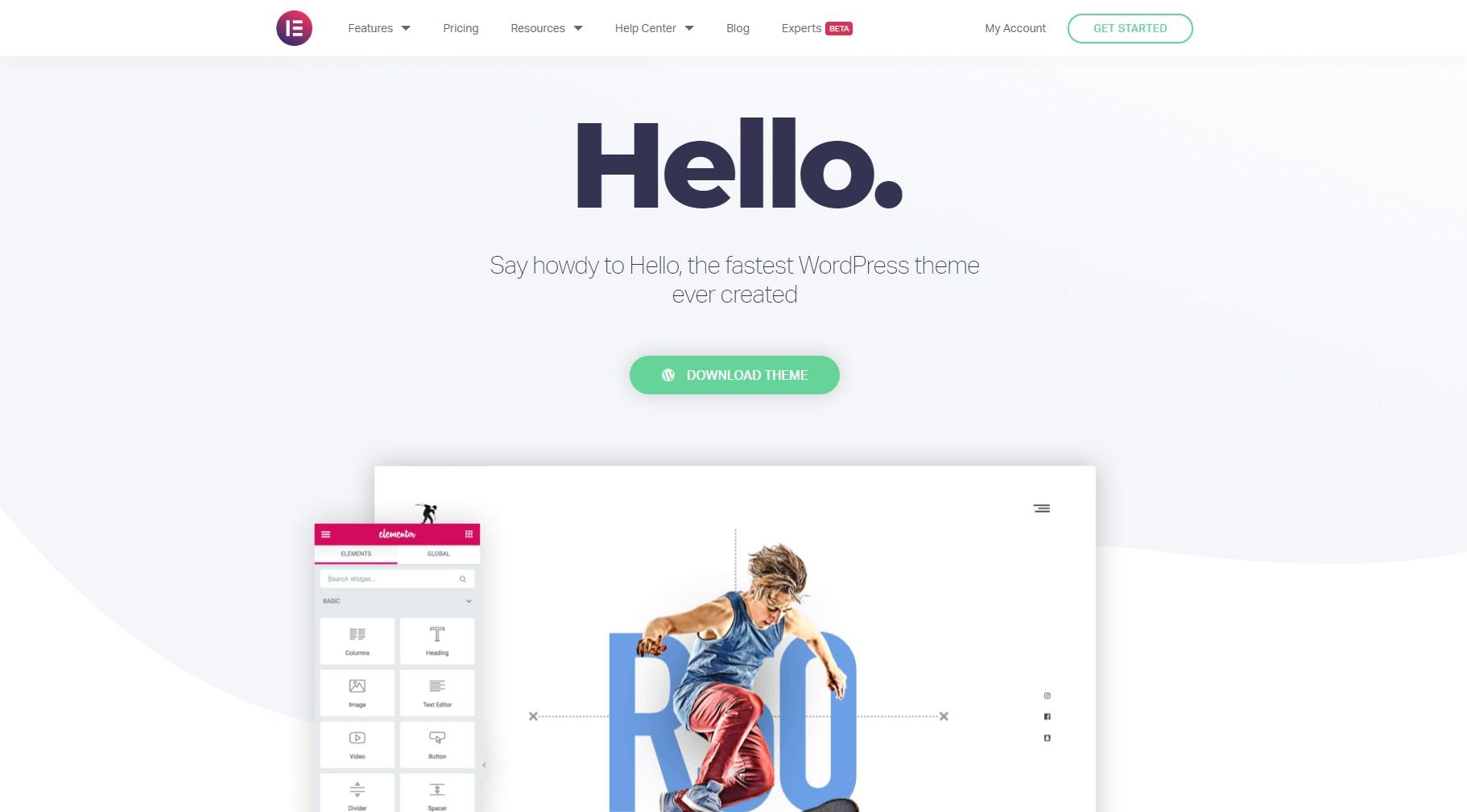 wordpress theme hello